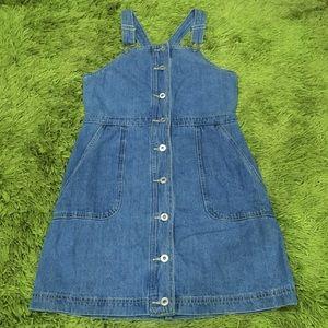 Dotti Denim Pinafore Dress Size 10 100% Cotton
